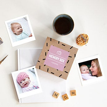 Nyomtatott fotó ajándék doboz
