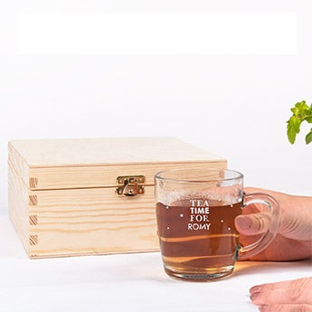 Teabox with glas