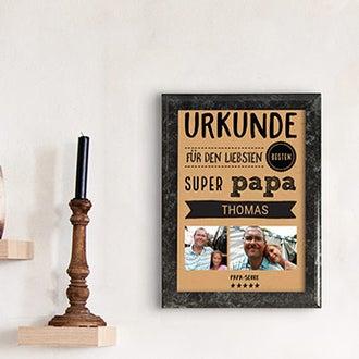 Urkunde liebster Papa
