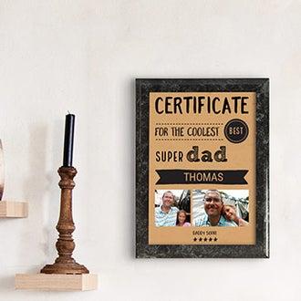 Certificato - Miglior papà