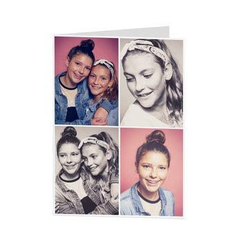 Cartão com foto personalizado