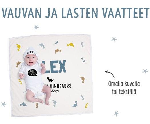 Yksilöidyt vauvan ja lasten vaatteet