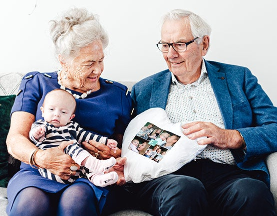 Presenter till far & morföräldrar