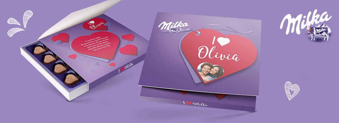 Say it with Milka - cioccolatini personalizzati