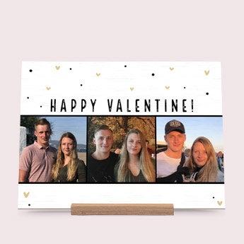 Houten valentijnskaart