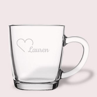 Engraved tea glass