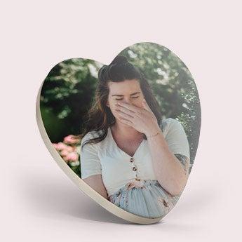 Cœur en chocolat avec photo