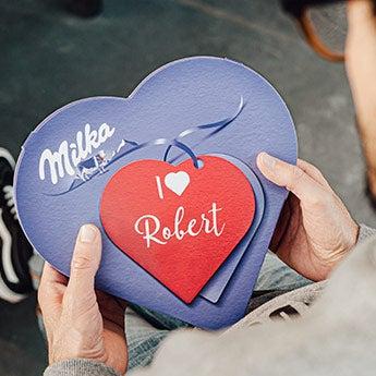 Milka Herz personalisieren