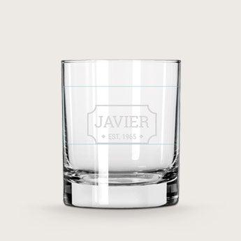 Verres à whisky gravés