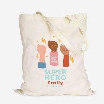 Superheroes tote bag