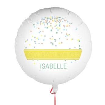 Balon z gratulacjami