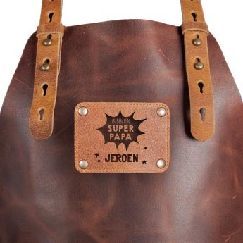 personalised leather BBQ apron