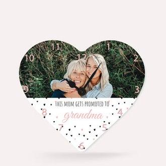 Klocka - Hjärta Liten - mormor/farmor