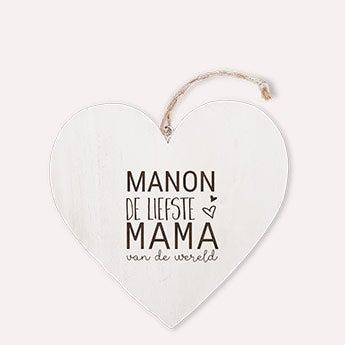 Dřevěné srdce den matek