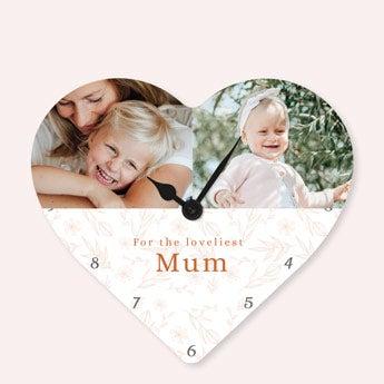Relógio coração - Mãe
