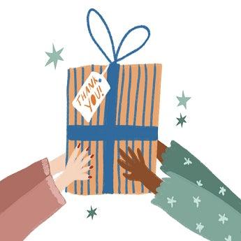 Ideas para dar las gracias con un regalo
