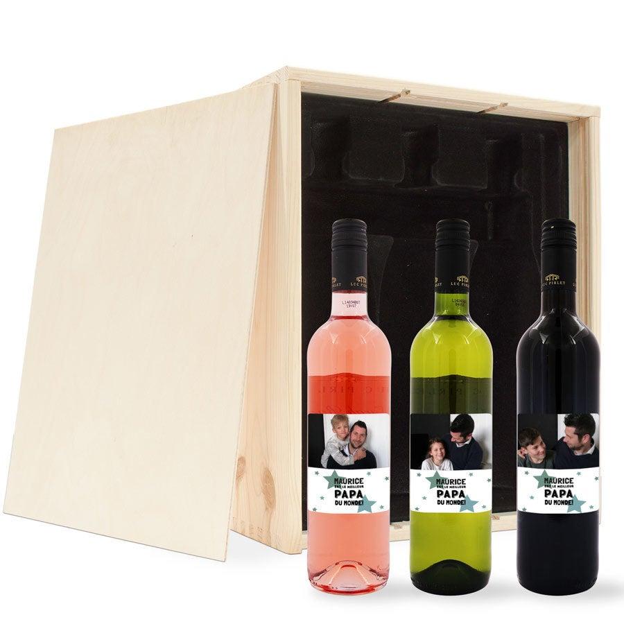 Coffret de vin avec étiquette personnalisée