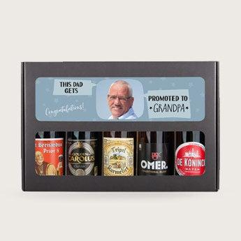 Conjunto de presente de cerveja - vovô