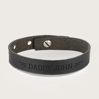 Kožený náramek Den otců