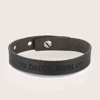 Kožený náramok na Deň otcov