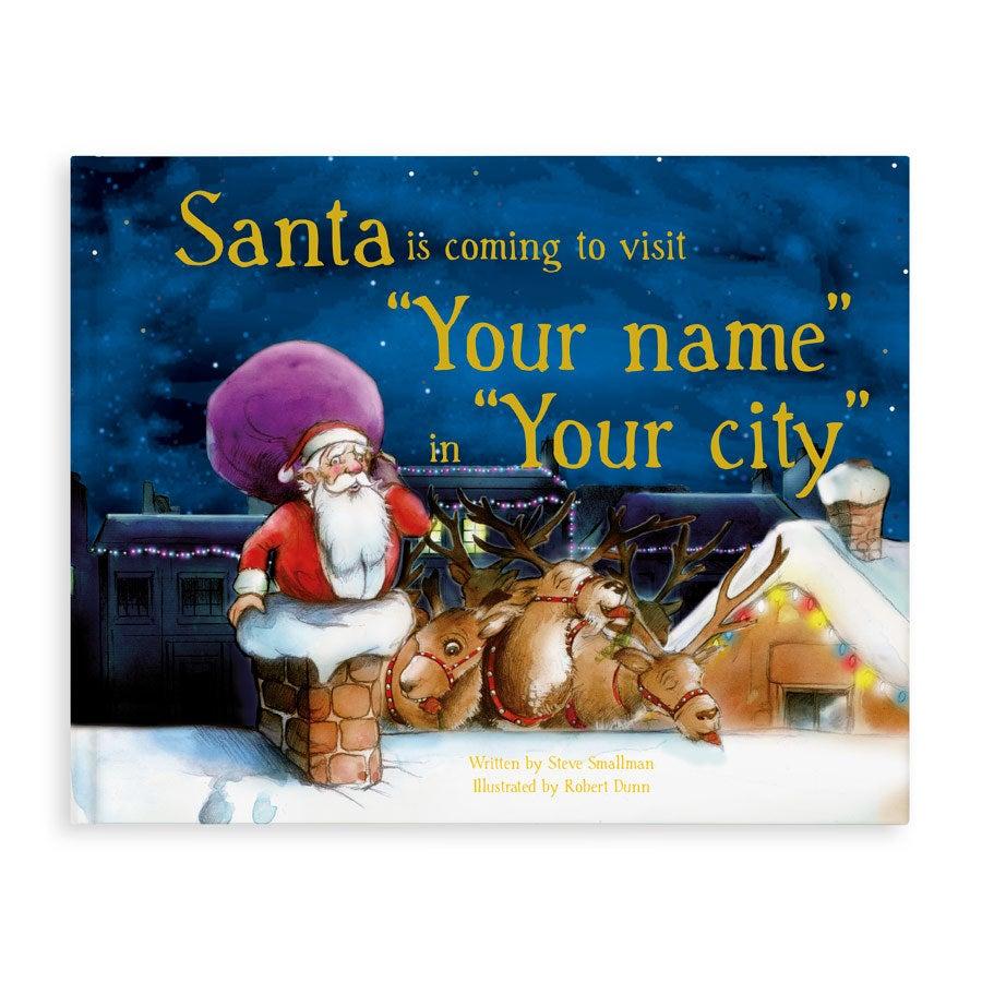 personalised Santa is Coming book