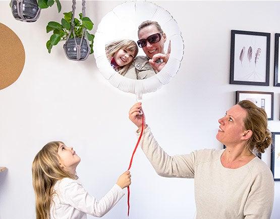 Ballon mit Foto & Text
