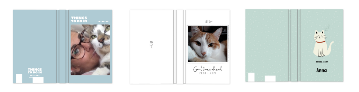 personalised cat notebook