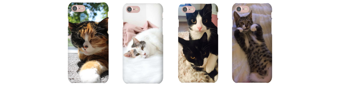 personalised cat photo phone case