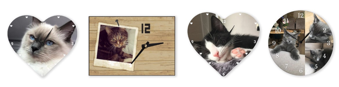 personalised cat photo clock