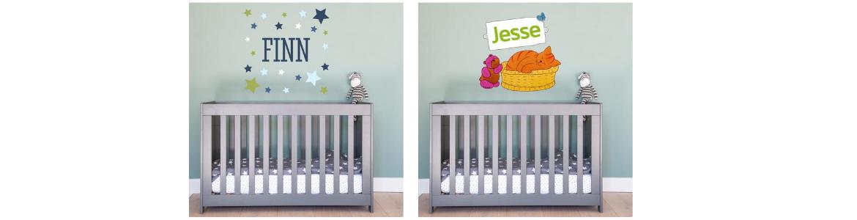 Sticker mural avec le prénom du bébé