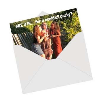 Invitation personnalisée avec photo et texte