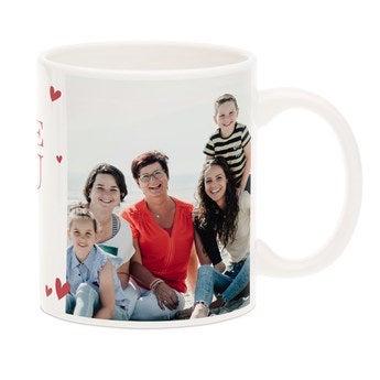 Mug photo blanc