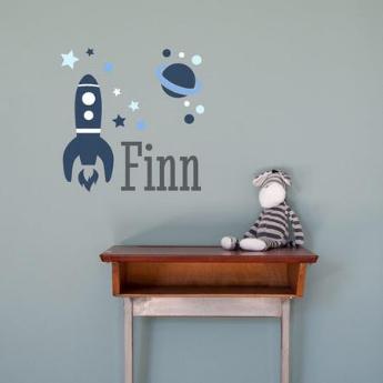 sticker mural chambre d'enfant avec prénom