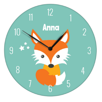 horloge avec renard