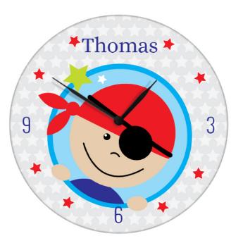 horloge avec pirate