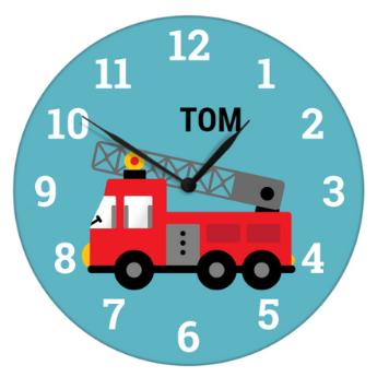 horloge avec camion de pompiers