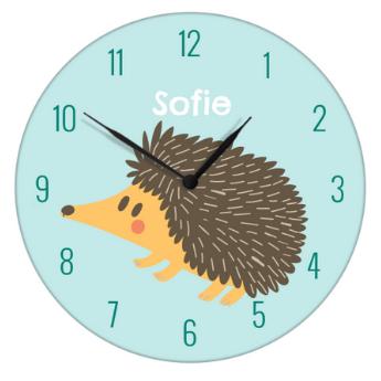 horloge avec hérisson