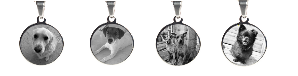 engraved pendant featuring your pet