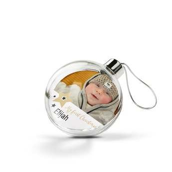 Christmas baubles - First Christmas