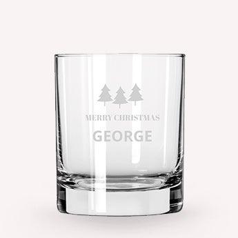 Whisky glass - Christmas