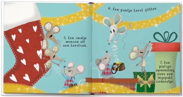 pagina uit het boek Kerstavond redden met Muis Maretak