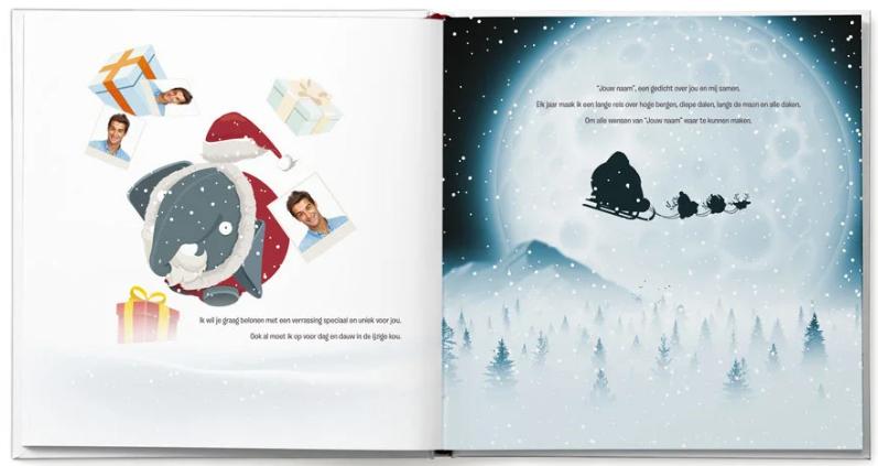 pagina uit het boek Dikkie Dik viert Kerst