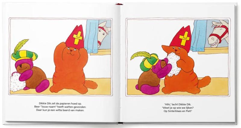pagina uit het boek Dikkie Dik viert Sinterklaas