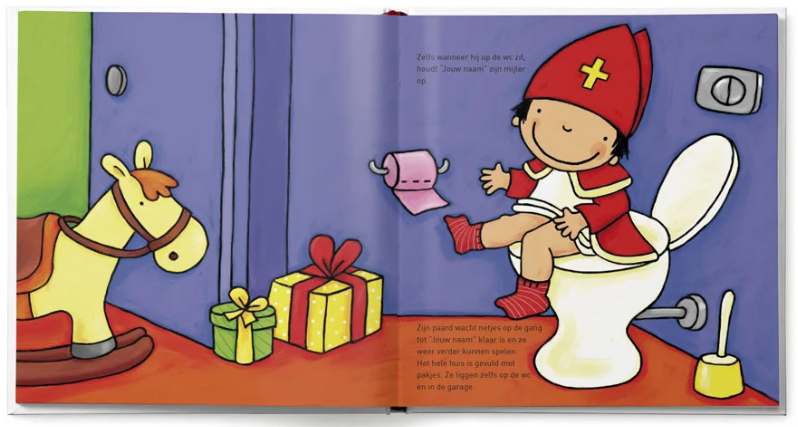 pagina uit het boek Jouw kind als Sinterklaasje