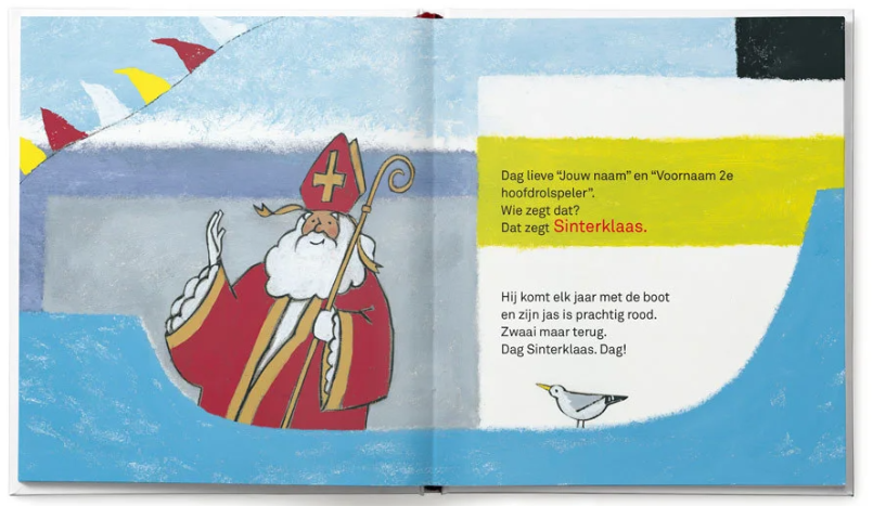 pagina uit het boek Dag Sint, Dag Piet