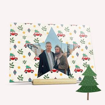Tarjeta de madera - Navidad