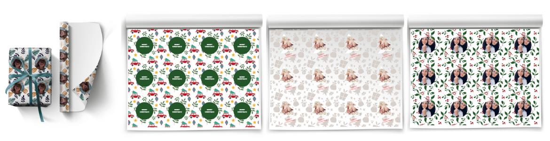 je eigen inpakpapier voor kerst met jouw foto en tekst