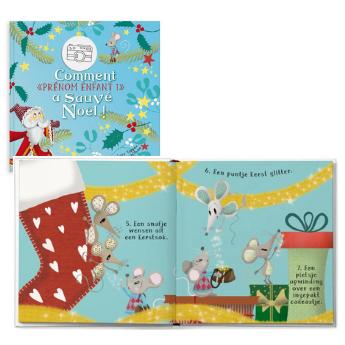 Livre enfant personnalisé Sauver Noël