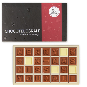 Message en chocolat Chocotelegram