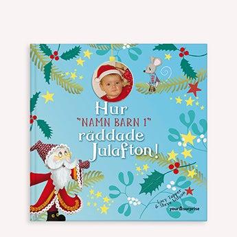 Julbok med namn och foto
